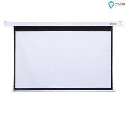 4World Elektryczny Ścienny/Sufitowy Ekran Projekcyjny z Przełącznikiem 203x152 (4:3) Matt White