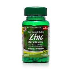Silnie Działający Cynk Chelat 15 mg z Miedzią 120 Tabletek