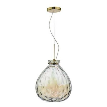 AZIA 1LT Lampa Sufitowa FRENCH Kolor Złoty Szkło LED