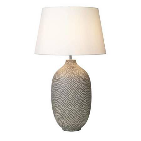 CEYDA Lampa Stołowa Kolor Szary Kolor Biały