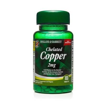 Miedź Chelat 2 mg 100 Tabletek