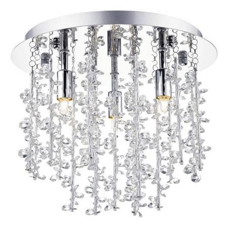 SESTINA 3LT Lampa Sufitowa PC oraz ALUM Motyw Kryształowy RODS
