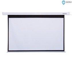 4World Elektryczny Ścienny/Sufitowy Ekran Projekcyjny z Pilotem 144x81 (16:9) Matt White